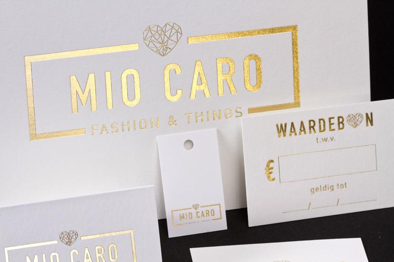 Onze realisaties | Image right uitnodiging Mio Caro