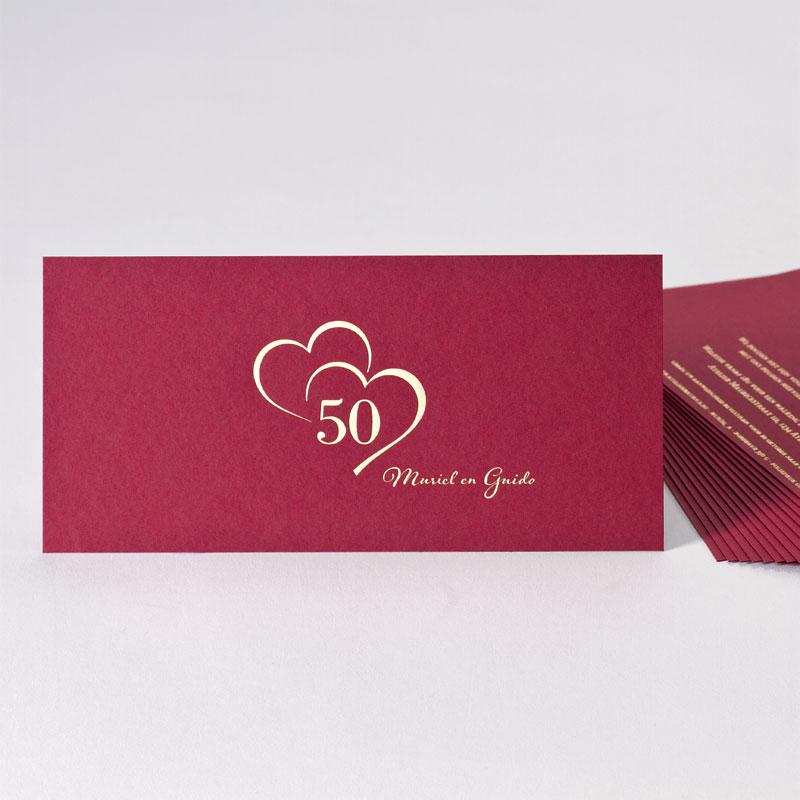 Product Bordeaux uitnodiging gouden jubileum