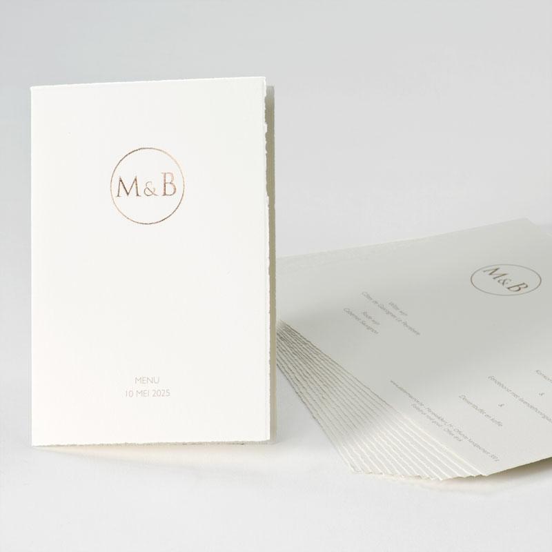 Product Oud-Hollandse menukaart met rosé goudfolie