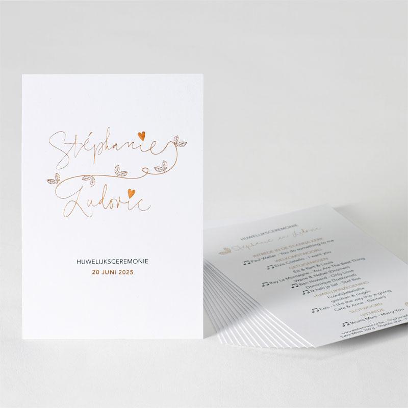 Product Sierlijk ceremonieboekje met folie