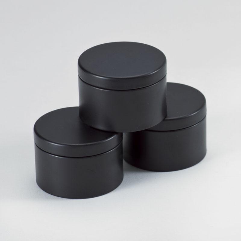 Product Zwart blikken doosje