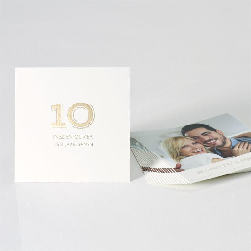 Bedankkaartje met foto en foliedruk