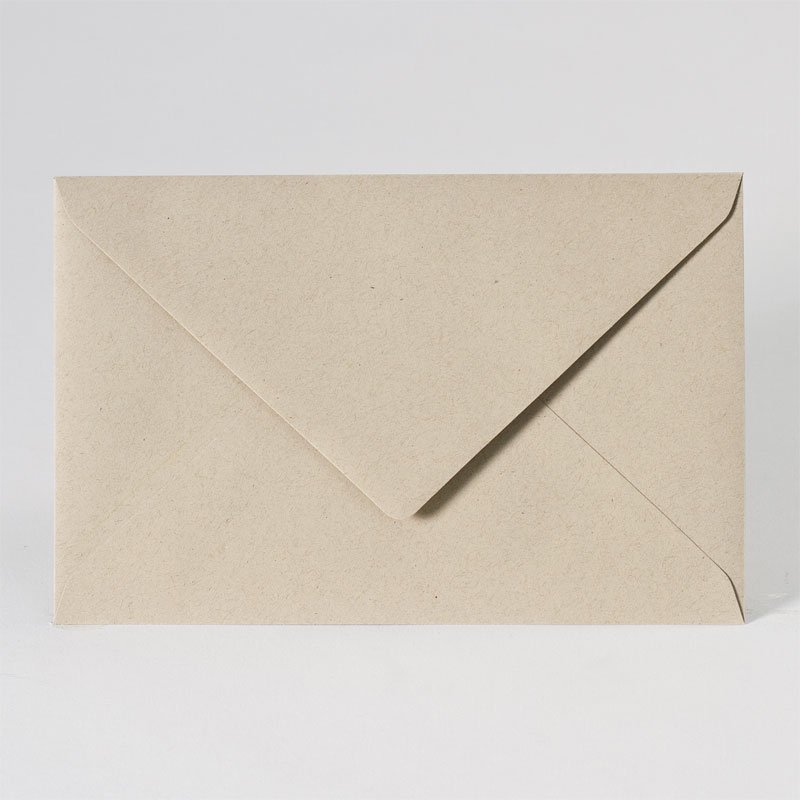 Eco enveloppe in light brown (18,5 x 12,0 cm)