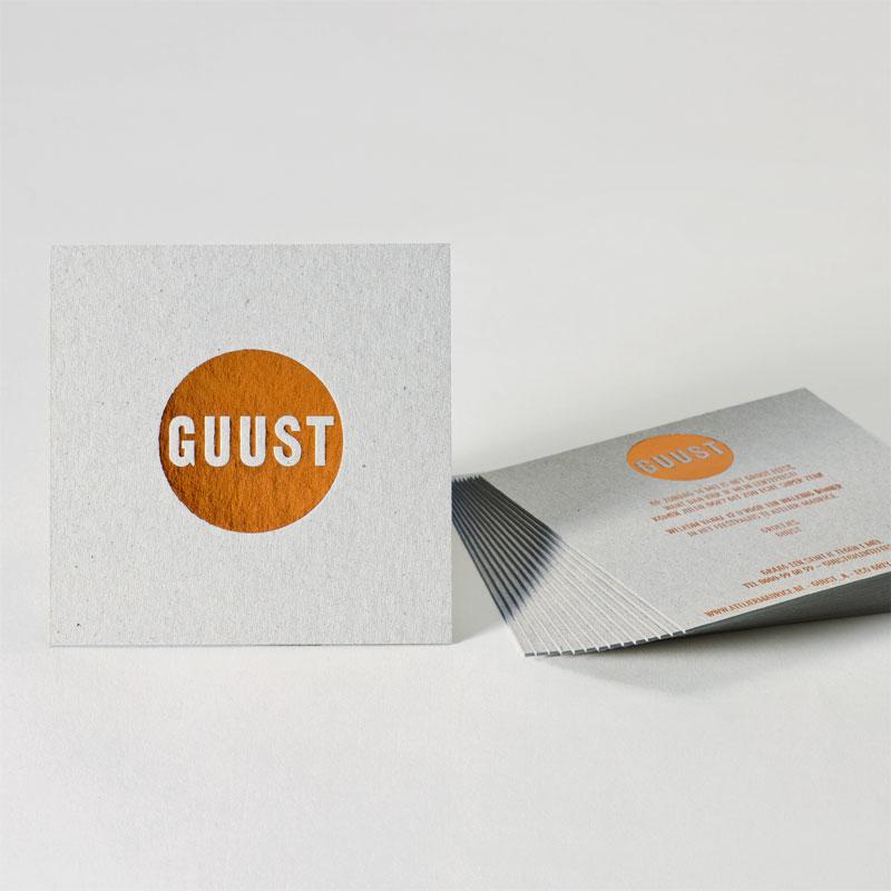 Eco grey communie/lentefeest uitnodiging met koperfolie