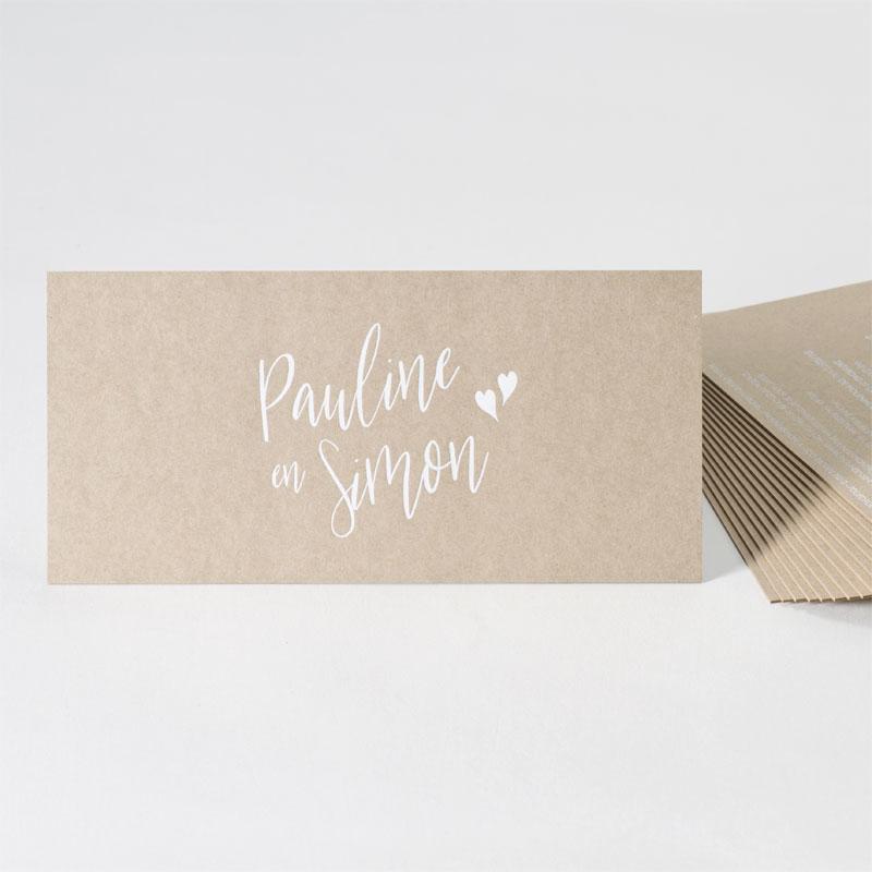 Eco huwelijksuitnodiging met witte folie