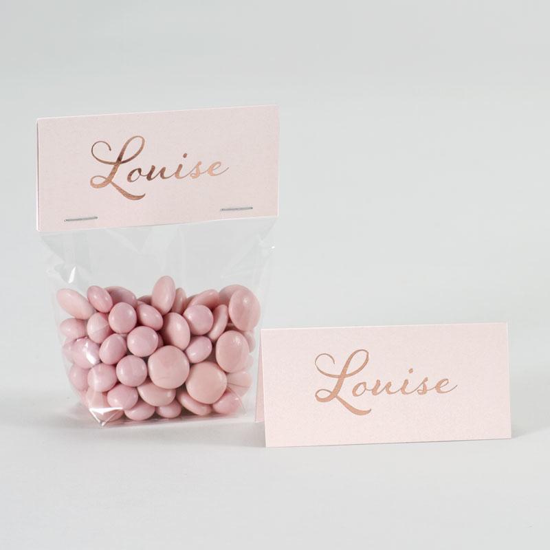 Elegant roze label