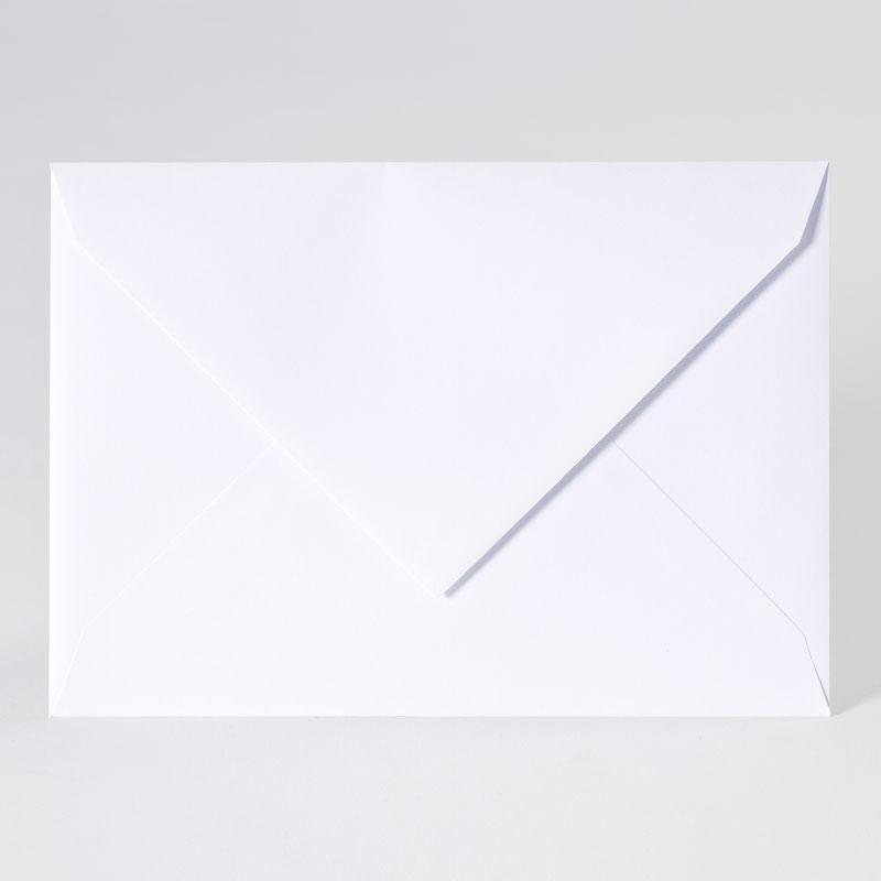 Elegante enveloppe met puntklep in extra white (22,9 x 16,2 cm)