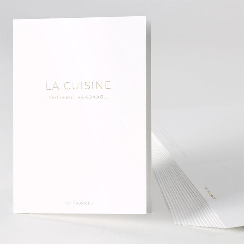 Elegante menukaart met goudfolie