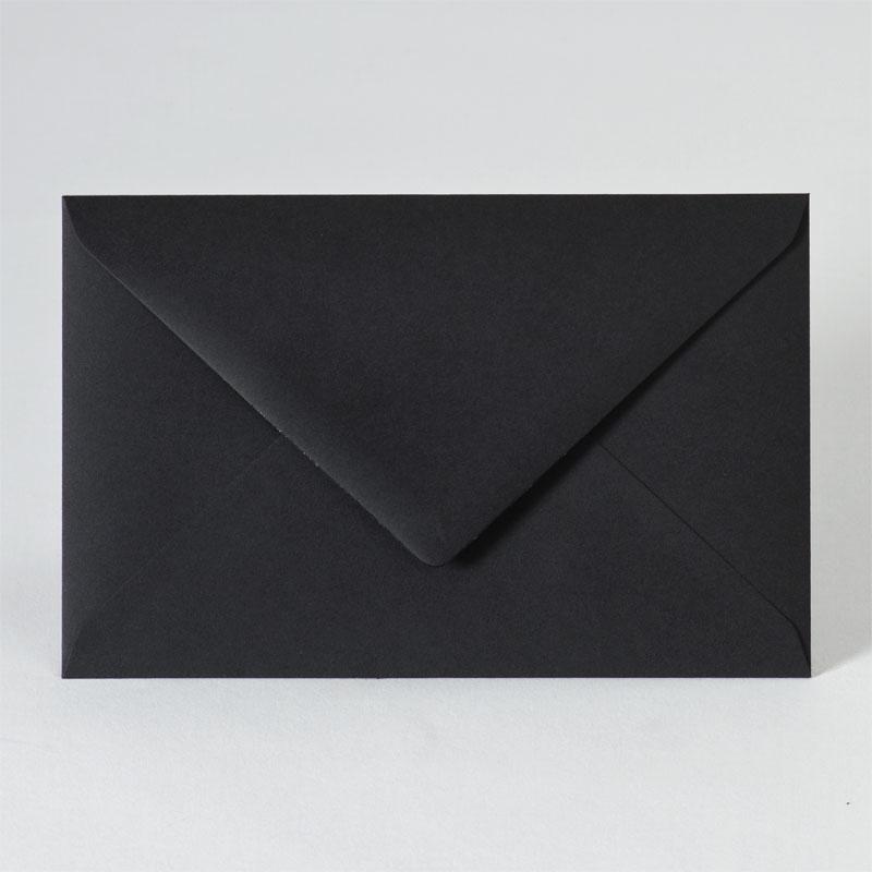 Enveloppe met puntklep in black (18,5 x 12,0 cm)
