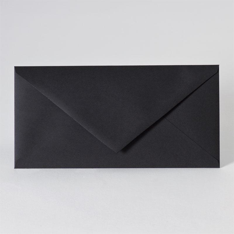 Enveloppe met puntklep in black (22,0 x 11,0 cm)
