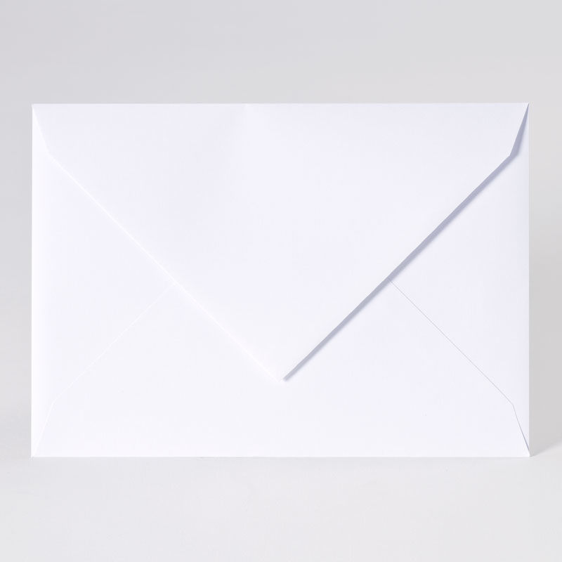 Enveloppe met puntklep in extra white (22,9 x 16,2 cm)