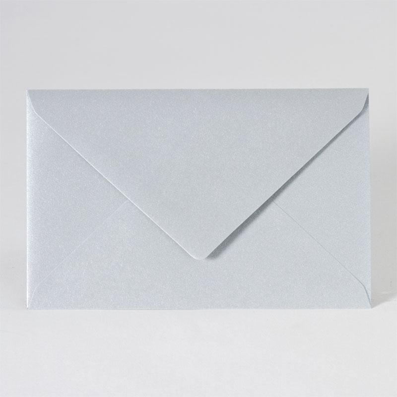 Enveloppe met puntklep in metallic silver (18,5 x 12,0 cm)