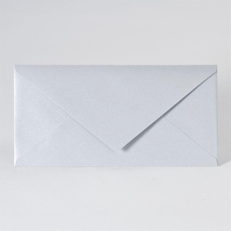Enveloppe met puntklep in metallic silver (22,0 x 11,0 cm)