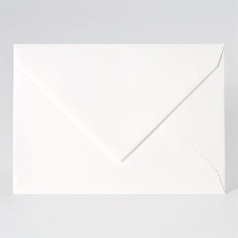 Enveloppe met puntklep in offwhite (22,9 x 16,2 cm)