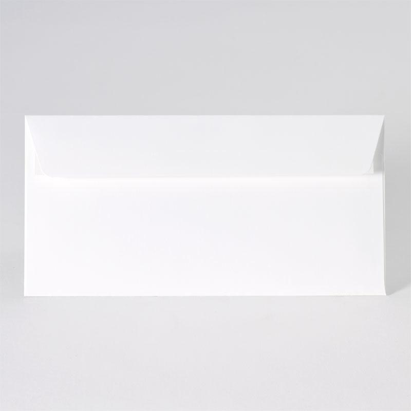 Enveloppe met rechte klep in de tint white (22,0 x 11,0 cm)
