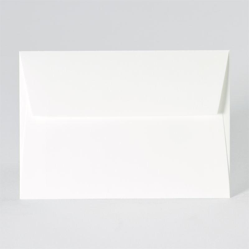 Enveloppe met rechte klep in offwhite (16,2 x 11,4 cm)