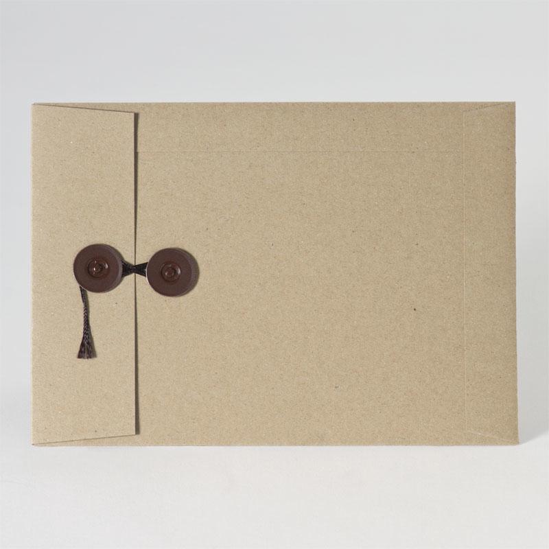 Enveloppe met zijdelingse sluiting in eco brown (22,9 x 16,2 cm)