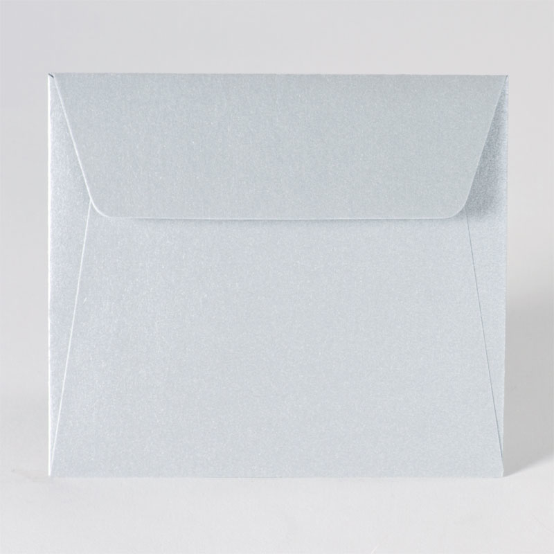 Metallic enveloppe in zilver (14,0 x 12,5 cm)