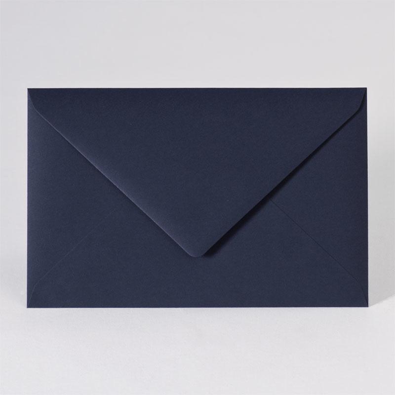 Gekleurde enveloppe in dark blue (18,5 x 12,0 cm)