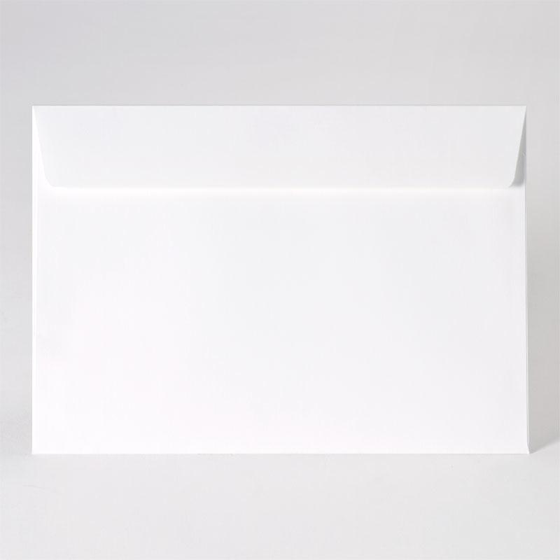 Enveloppe in white tint met rechte klep (22,9 x 16,2 cm)