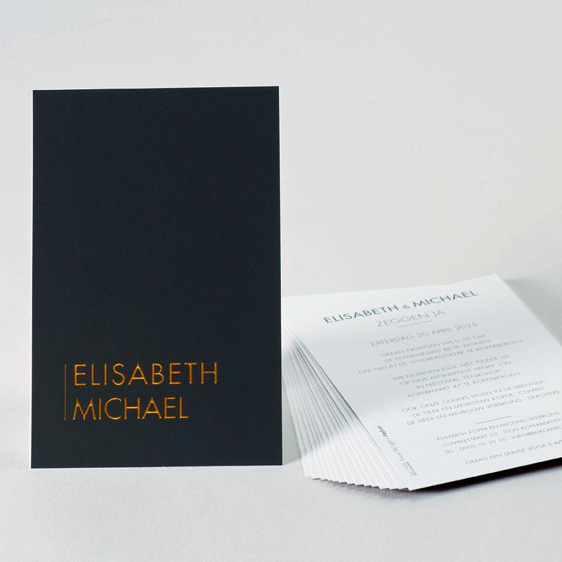 Exclusief design met digitale foliedruk in koper