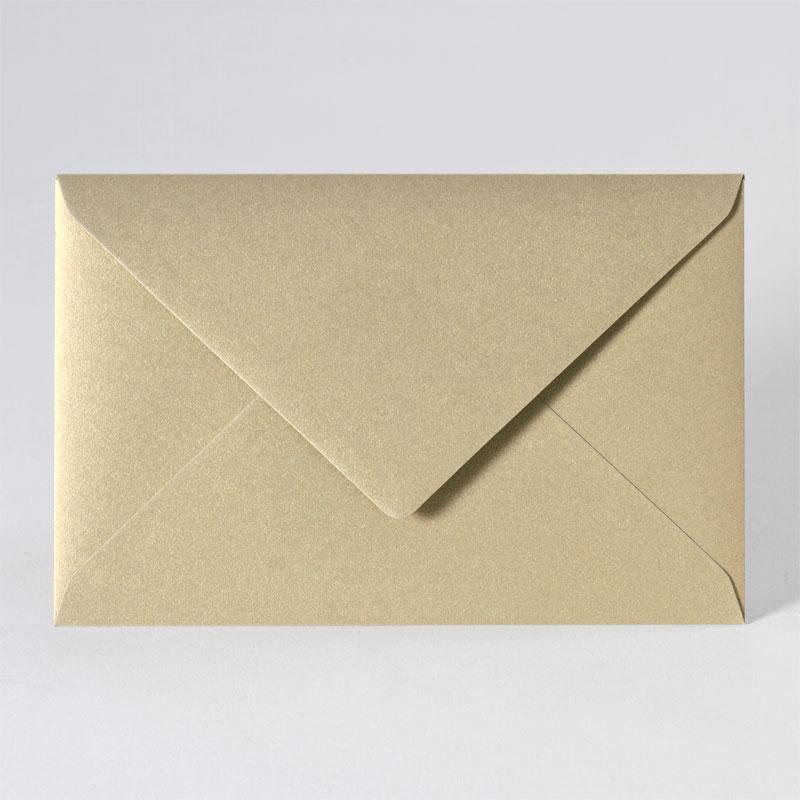 Feestelijke enveloppe met puntklep in metallic gold (18,5 x 12,0 cm)