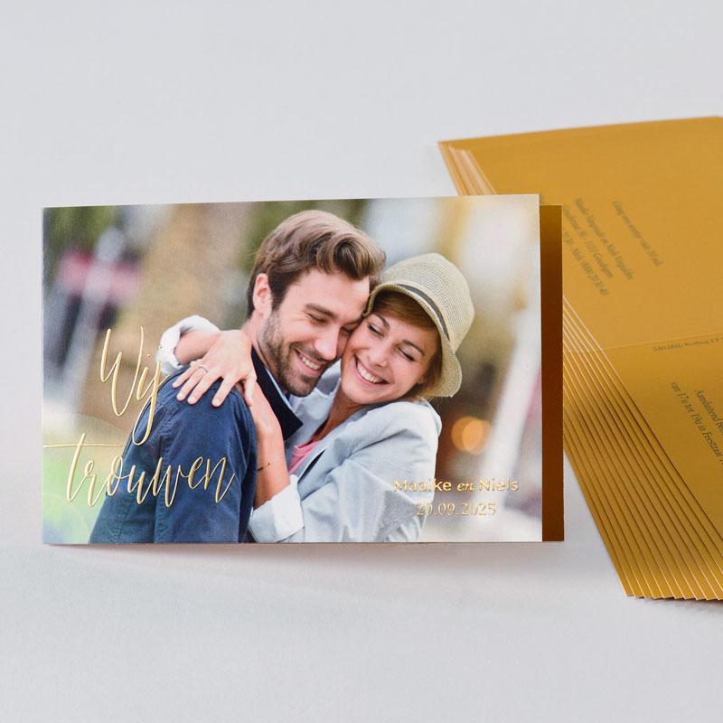 Fotokaart  met digitale foliedruk