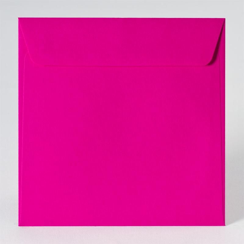 Gekleurde enveloppe in fuchsia (17,0 x 17,0 cm)