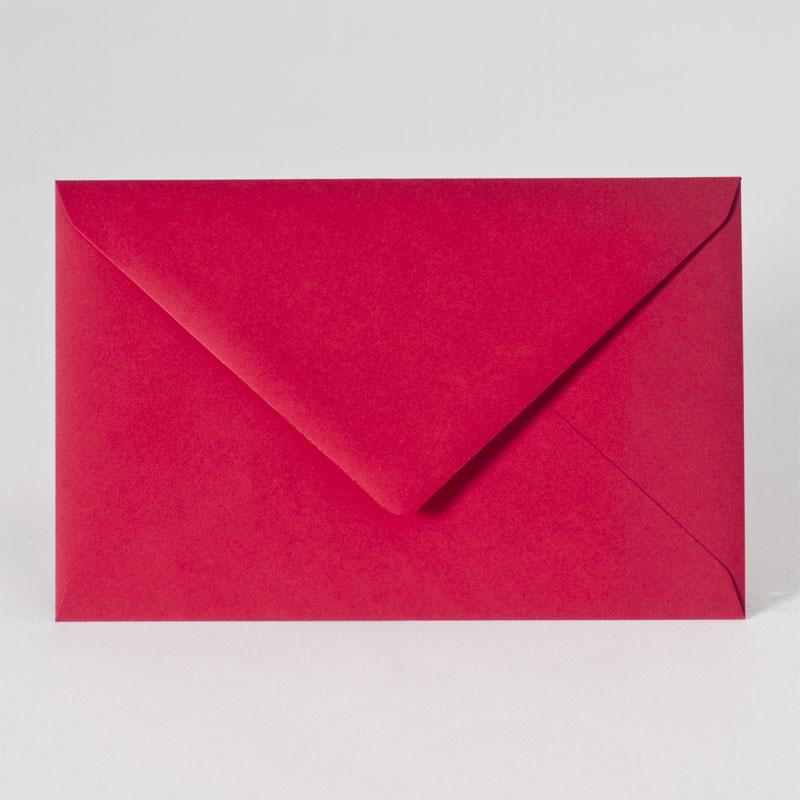 Gekleurde enveloppe in intens rood (18,5 x 12,0 cm)