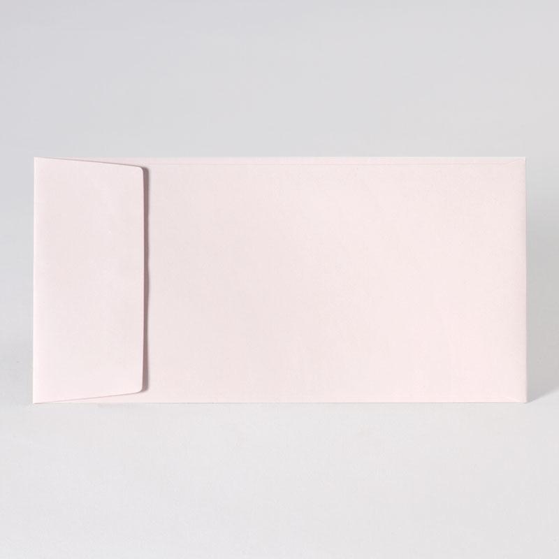 Gekleurde enveloppe in nude (22,0 x 11,0 cm)
