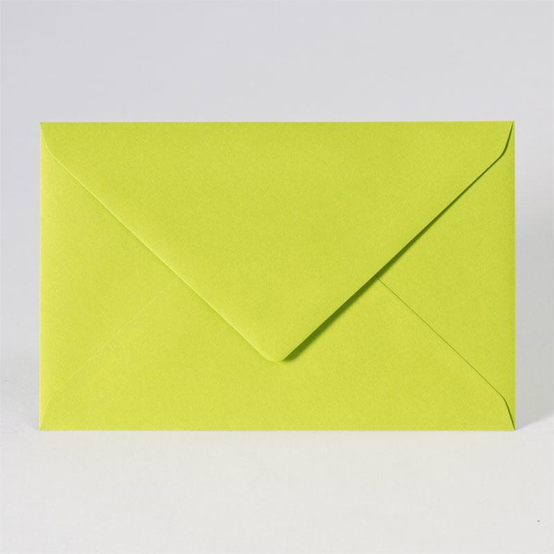 Gekleurde enveloppe in vrolijk lime (18,5 x 12,0 cm)