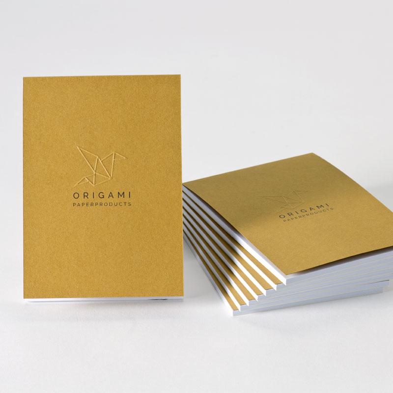 Gepersonaliseerd notitieboekje met reliëfdruk