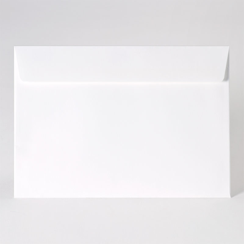 Grote enveloppe met rechte klep in white (22,9 x 16,2 cm)