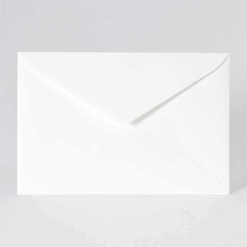 Klassieke enveloppe met puntklep in offwhite (18,0 x 12,0 cm)