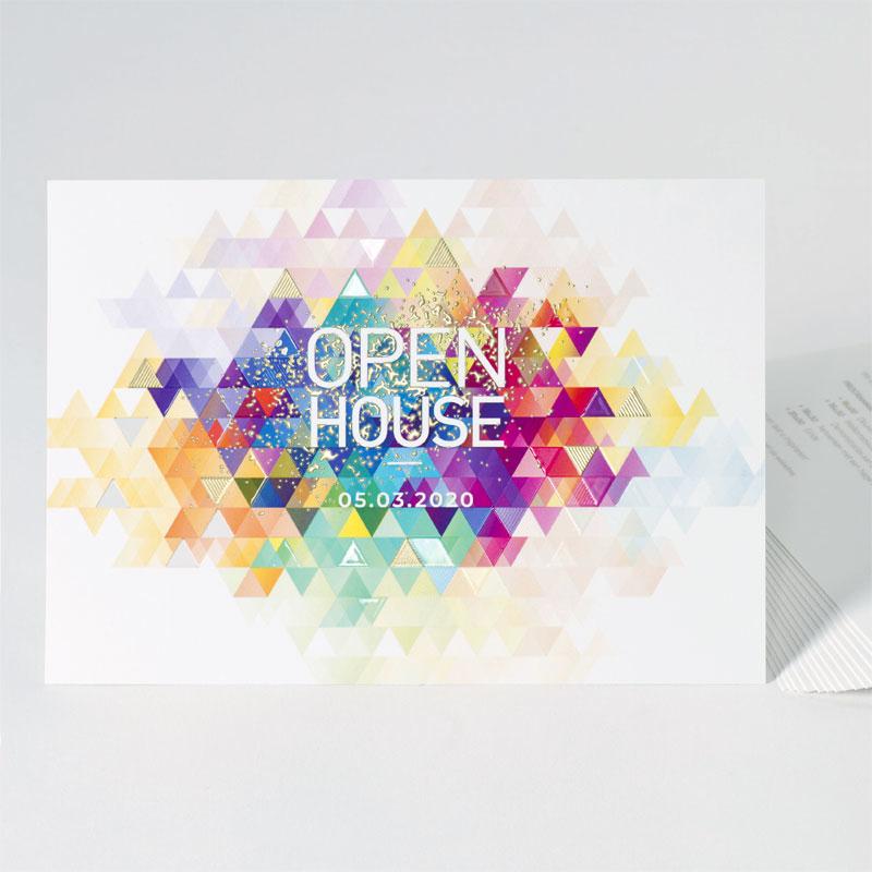 Kleurrijke uitnodiging met digitale folie