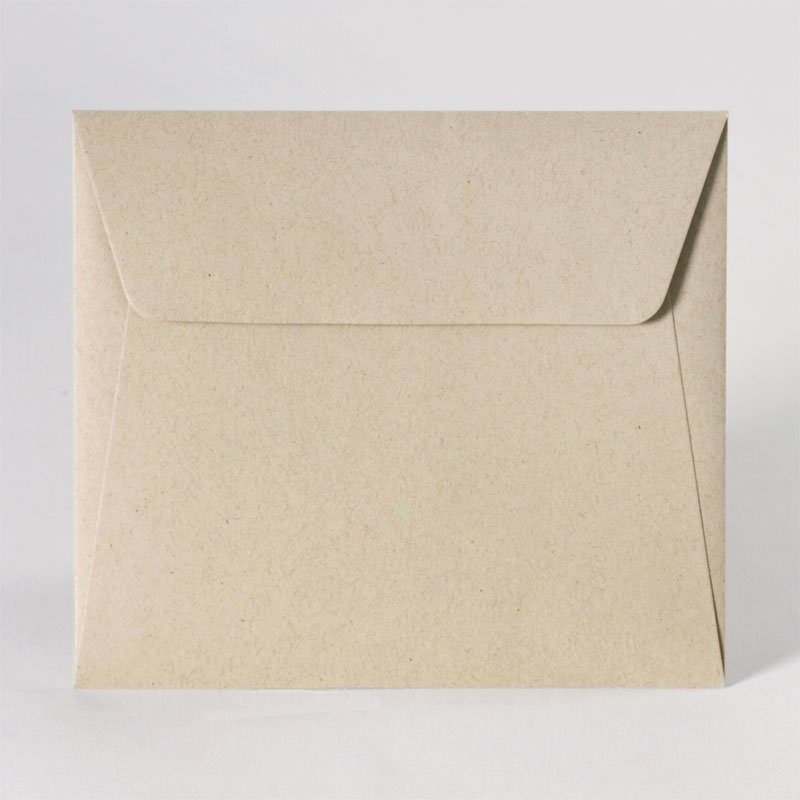 Leuke enveloppe in eco light brown (14,0 x 12,5 cm)