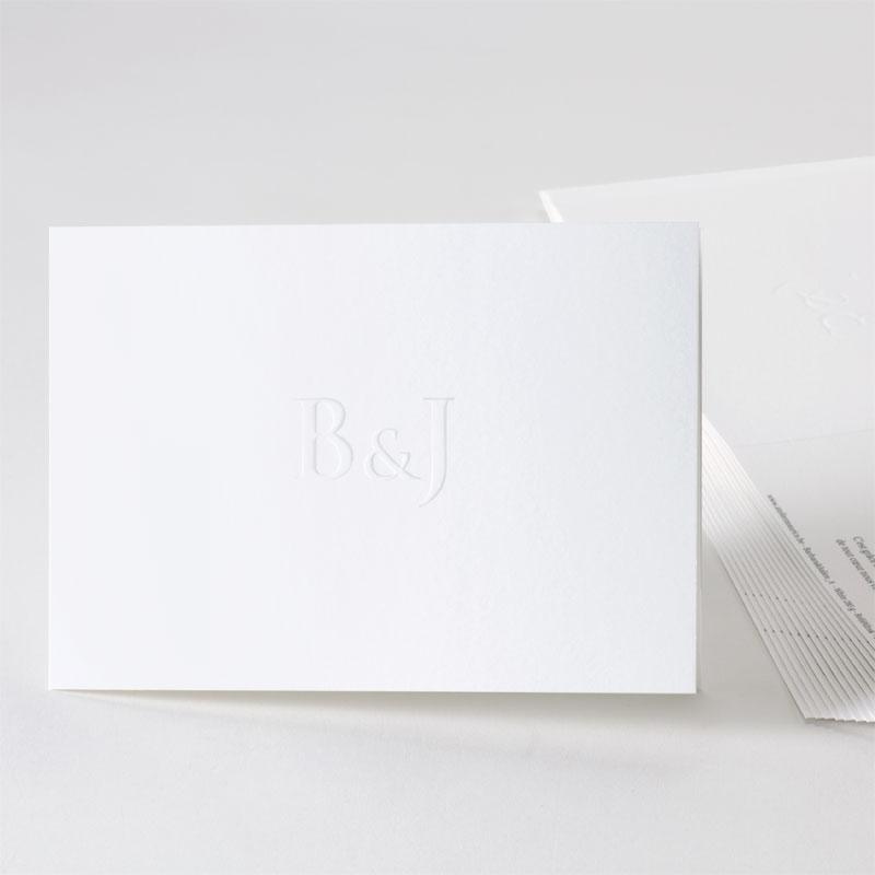 Minimalistische trouwkaart met reliëfdruk
