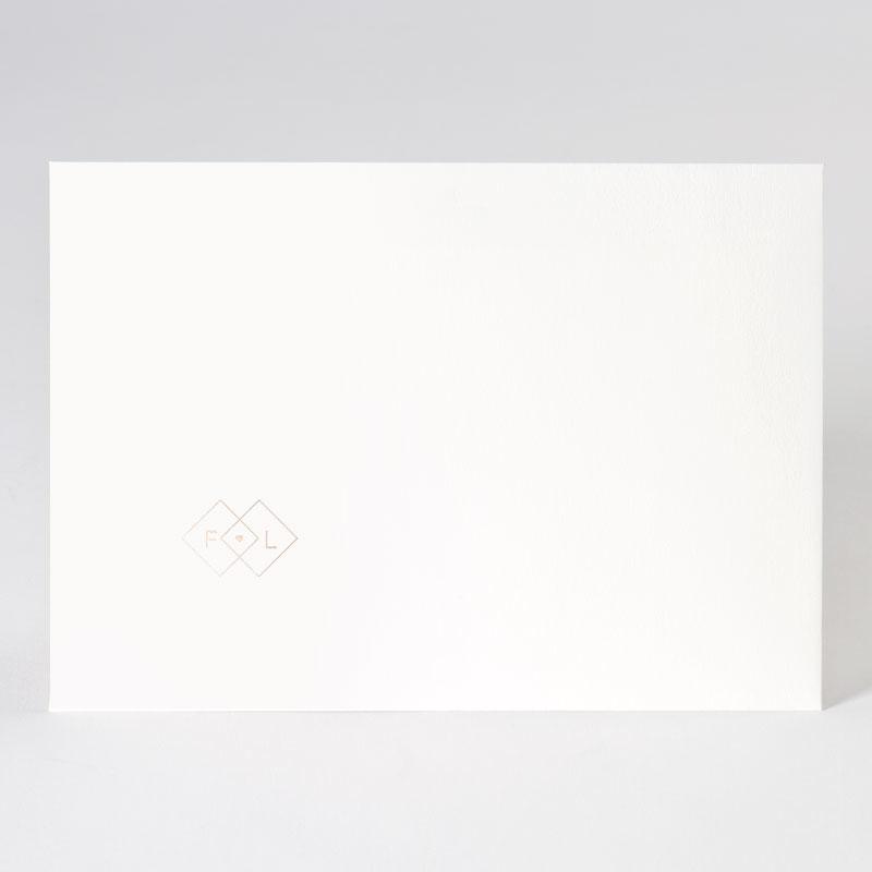 Offwhite enveloppe met afwerking in rosé goudfolie (22,9 x 16,4 cm)