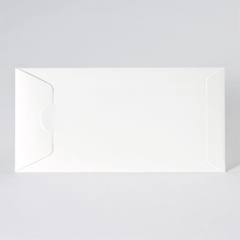 Offwhite enveloppe met zijdelingse sluiting (22,0 x 11,0 cm)