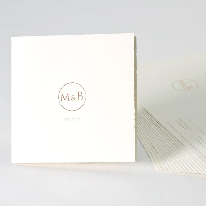 Romantische uitnodiging in handgeschept papier