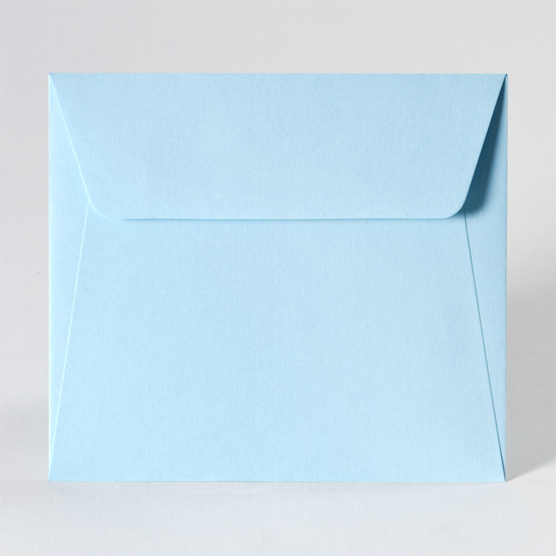 Schattige enveloppe in light blue (14,0 x 12,5 cm)