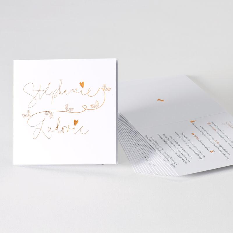 Sierlijke trouwuitnodiging met folie