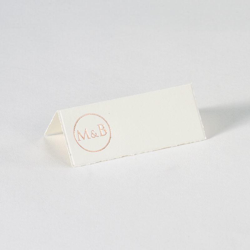 Stijlvol tafelkaartje handgeschept papier