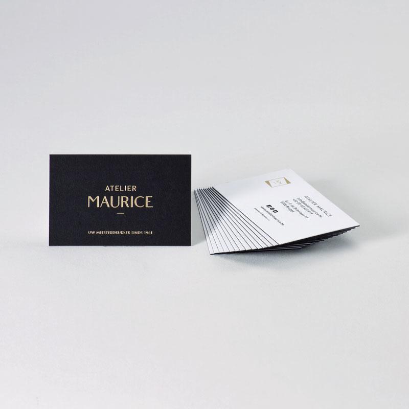 Stijlvol visitekaartje in black, white & gold