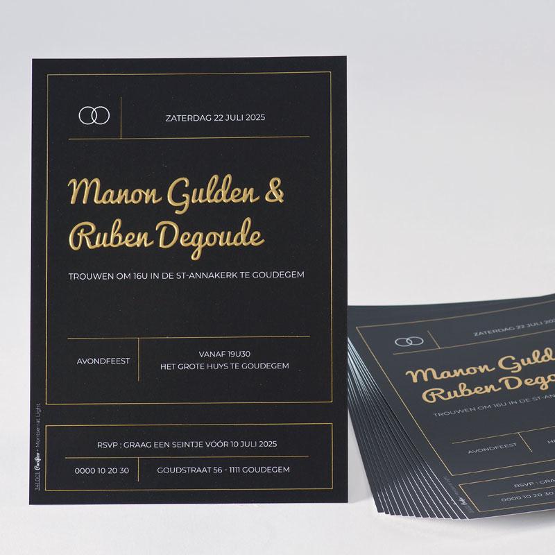 Stijlvol zwart met digitale goudfoliedruk