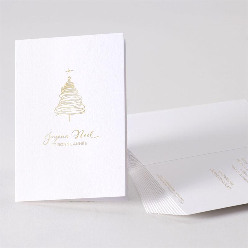 Stijlvolle kerstkaart met gouden kerstboom