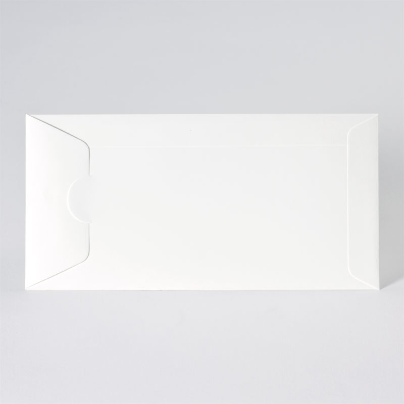 Stijlvolle offwhite enveloppe met zijdelingse sluiting (22,0 x 11,0 cm)