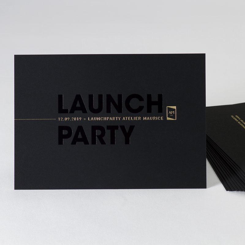 Stijlvolle uitnodiging in black & gold