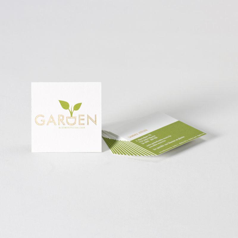 Vierkant visitekaartje met natuurlijke look
