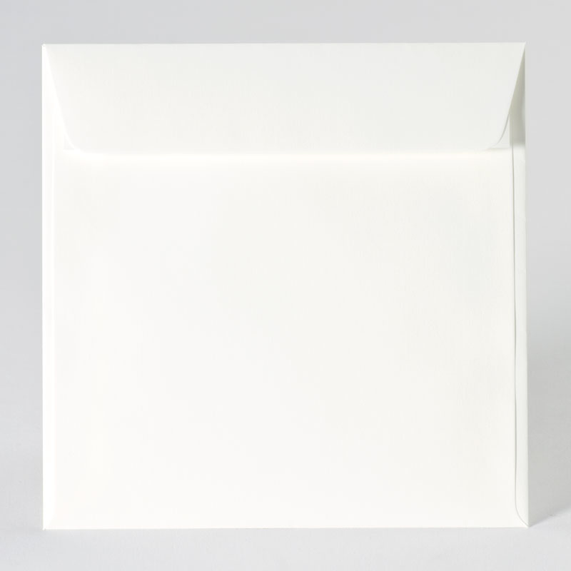 Vierkante enveloppe met rechte klep in offwhite (17,0 x 17,0 cm)